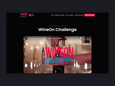 WineOn | Website, UI/UX design web ux ui landing page