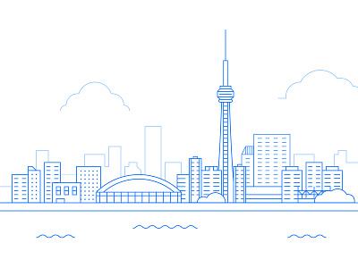 Toronto cityscape debut canada toronto illustration cityscape ntrust