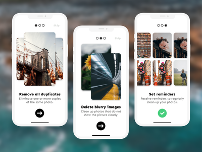 Gallery Cleaner App onboarding illustration onboarding screens onboarding screen onboarding ui onboarding photos photography mobile app design mobile design mobile ui mobile app mobile ui  ux uiux ui design uidesign ux ui design app