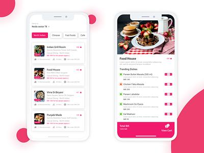 Zomato Redesigned (iOS App) clean app design sketch app ios app mobile app sketch food app