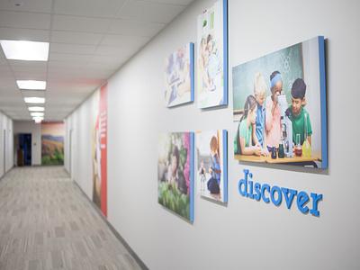 Preschool Hallway Design wall decor gallery canvas discover preschool interior