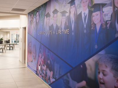 Learning Lasts A Lifetime Wall academic education learning vinyl metal lettering