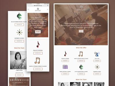 Music School Web Design icon design brand design web design