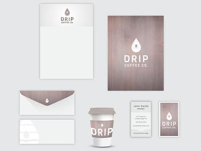 Drip Coffee branding coffee logo