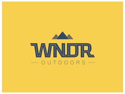 WNDR mountains logo branding wndr outdoors