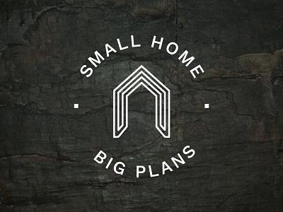 Small Home Big Plans Logo branding design logo plans big home small slate