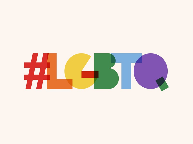 LGBTQ typography text in rainbow color community human concept symbol illustration isolated design banner colorful background vector love rainbow lgbt gay month pride people modern word