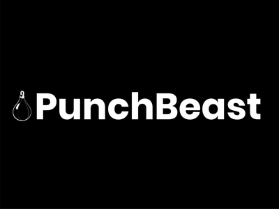 PunchBeast Logo (Black and White) icon design logo design concept logo design typography logo design graphic  design adobe illustrator branding