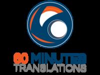 60 Minutes Translations New Logo