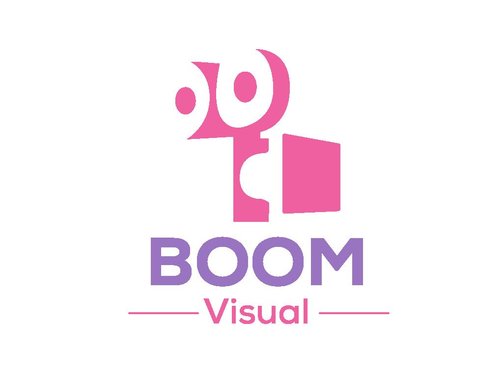 Boom Visual (Coloured Proposal) social media adobeillustrator vector illustration icon design logo design concept logo design logo typography design branding graphic  design adobe illustrator