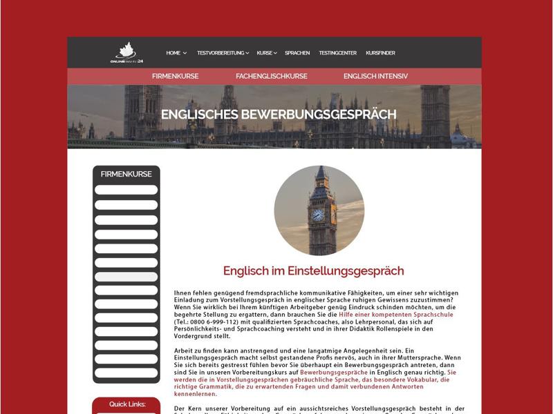 Online English 24 web mockup germany german courses english user interface ux ui web mockup