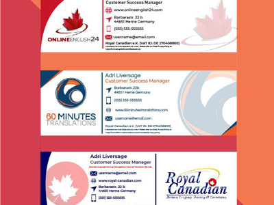 Email Signatures (60MT, OE24 & Royal Canadian)