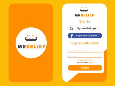 Mr.Relief App Design mockup