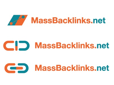 MassBackLinks Logo Proposals icon design vector logo design concept logo design typography branding logo design graphic  design adobe illustrator