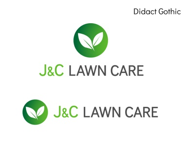 J&C Lawn Care Proposal icon logo design concept icon design logo design typography branding logo design graphic  design adobe illustrator