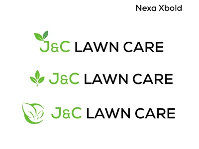 J&C Lawn Care (proposals) icon logo design concept logo design typography branding logo design graphic  design adobe illustrator