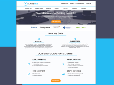 Article Hub Landing Page start flat web illustration vector ux ui typography design graphic  design adobe illustrator