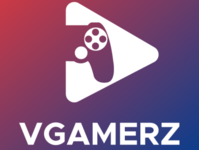 Vgamerz Logo (White on Color)