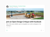 Facebook Open Design Critique