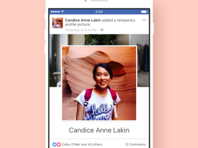 Facebook Profile Picture Update facebook profile profile story profile card facebook card feed story profile picture facebook design facebook