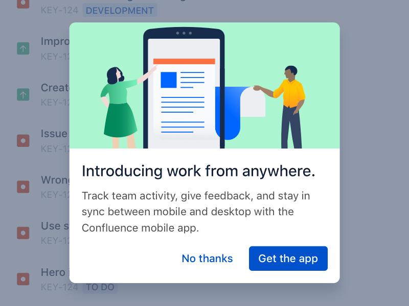 Mobile Dialog by Tanner Christensen for Atlassian on Dribbble