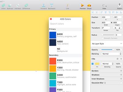 Atlassian Sketch Color Picker tool guidelines system design guidelines design system palettes palette color picker color tools design tools