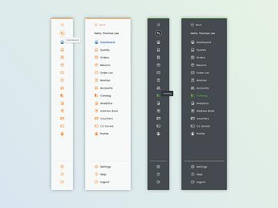 Sidebar Navigation website experience design ux ui