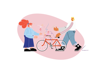 Bicycle Shop Delivery 🚲 illustrator joy passion love bicycle bicycles bicycle shop illustrations branding