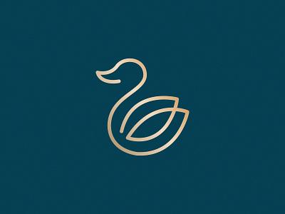 Monoline Duck illustration logo design graphic design branding fonts symbol abstract gradients colors dribble clever vector elegent icons flat ducklogo monolinelogo