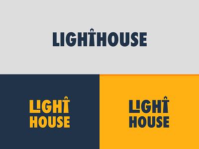 Lighthouse vector monogram illustration branding fonts graphic design logo best icon yellow concept clever wordmark symbol mark designs typographic logo lighthouselogo