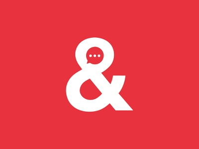 Ampersand Talk professional typgraphic simple flat chat minimal vector design fonts illustration lettering clever branding logo graphic design symbol comment talk ampersand