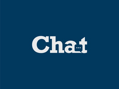 Chat graphic design ui ux branding typography symbol vector modern simple wordmark creative flat graphic chat bubble negative space logodesign chat