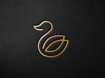 Duck illustration branding vector logo symbol clever graphics gold presentation mockups elegent falt minimal creative design line mark logodesign duck monoline