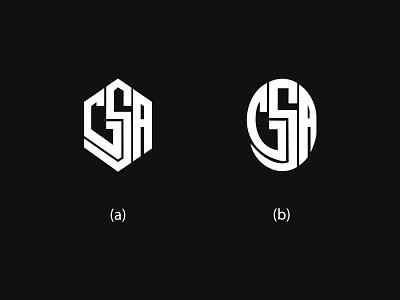 G S A Monogram brand round owal typography illustration branding design graphic design symbol creative flat lettering graphics vector options gsa logo monogram