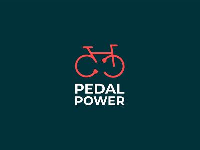 Pedal Power graphics clever brand concept colors typography illustration design branding logo vector symbol graphic design logo design combination mark pedal power