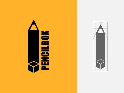 Pencil Box easy smart simple clever flat combination mark creative unique design colors grids typography illustration branding logo vector symbol graphic design design stationery pencil box