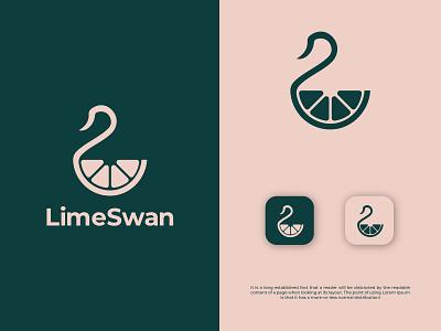Lime Swan presentation clever combination mark creative comfort calm new fresh swan lime ui ux typography design branding illustration logo vector graphic design symbol