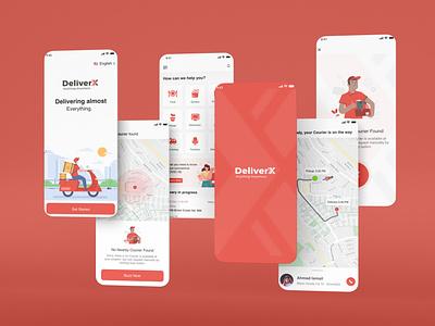 DeliverX design branding logo graphic design ux ui