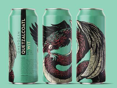 OMEYOCAN – QUETZACOATL branding typography design illustration graphicdesgn typedesign illustraion craftbeer branding and identity brand design