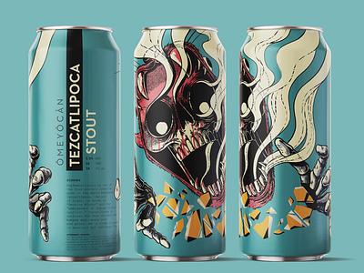 OMEYOCAN – TEZCATLIPOCA typography typedesign illustraion graphicdesgn design craftbeer branding and identity branding brand design