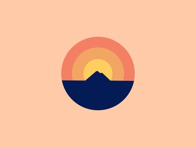 Mountain Sunset Logo