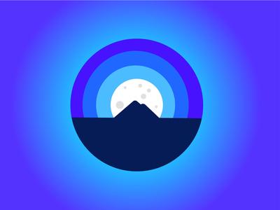 Twilight Moon Mountain Logo