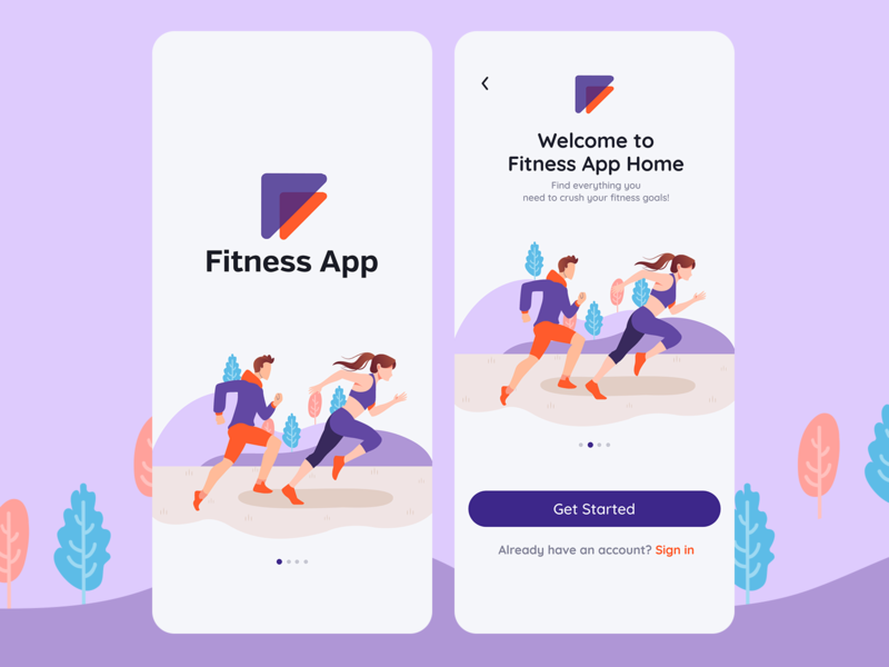 Fitness App Splash Screen Concept