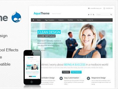 Aqua - Responsive Drupal Theme drupal drupal themes premium drupal theme best drupal themes