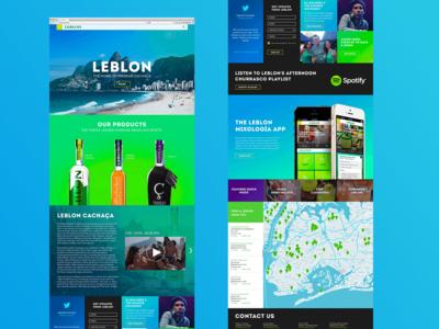 Leblon Content Landing Page Design