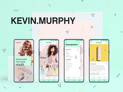 Kevin Murphy Concept hair care hair cosmetics beauty app ux design ui