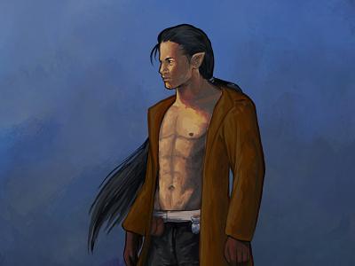 Badass elf character design male fantasy procreate badass dnd elf