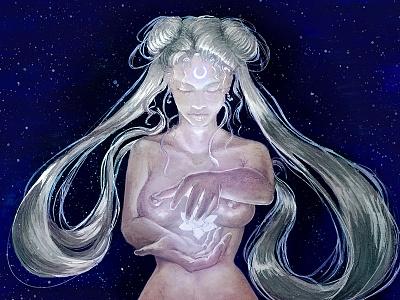 Serenity nude stars space serenity moon usagi sailor moon fanart