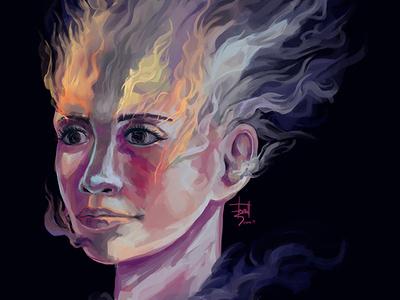 When You Die colors study woman digital painting 2d portrait digital art