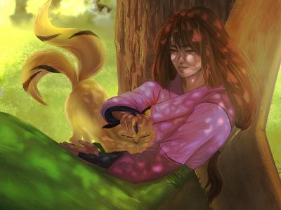 Sango's Lullaby redesign fanart characterdesign scene inuyasha sango